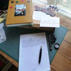 envoi de ma reliure aux biennales mondiales, contenu du paquet