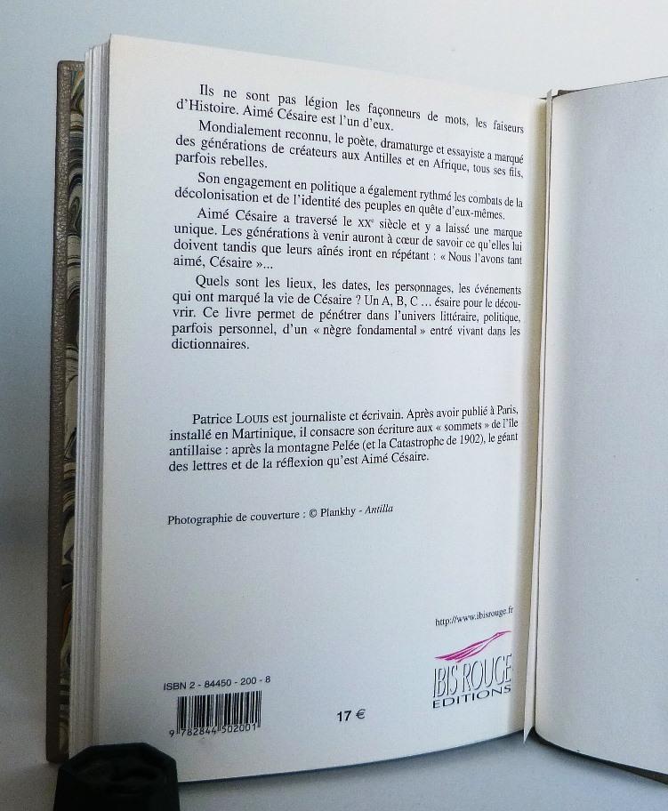 A,B,C...ésaire écrit par Patrice Louis, 4 de couverture