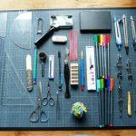 Recension de mon matériel de reliure, bureau, S1E06