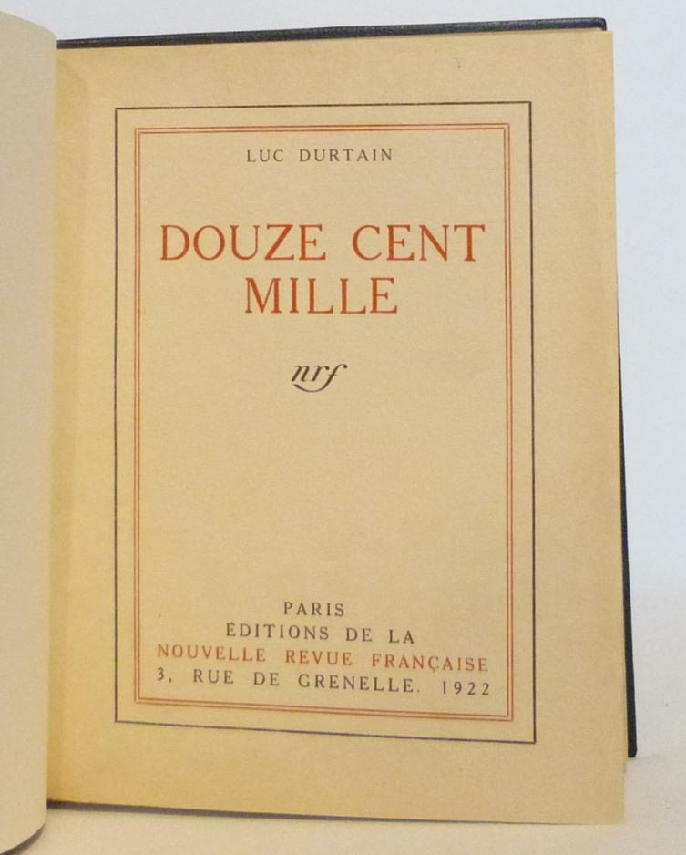 Douze cent mille de Luc Durtain, plein cuir. Une de couverture