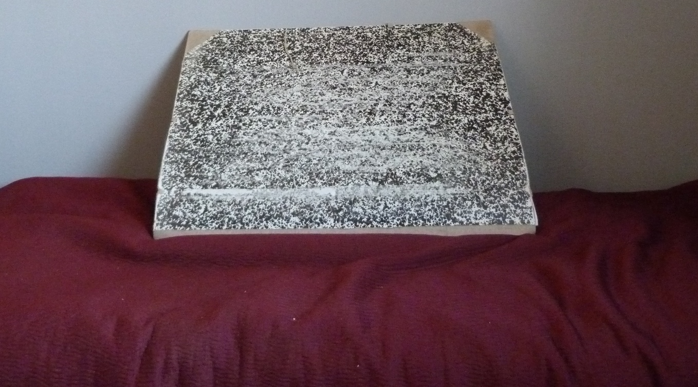 penderie : recension de mon matériel de reliure, carton à dessin fermé