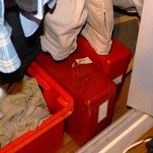 penderie : recension de mon matériel de reliure, valises