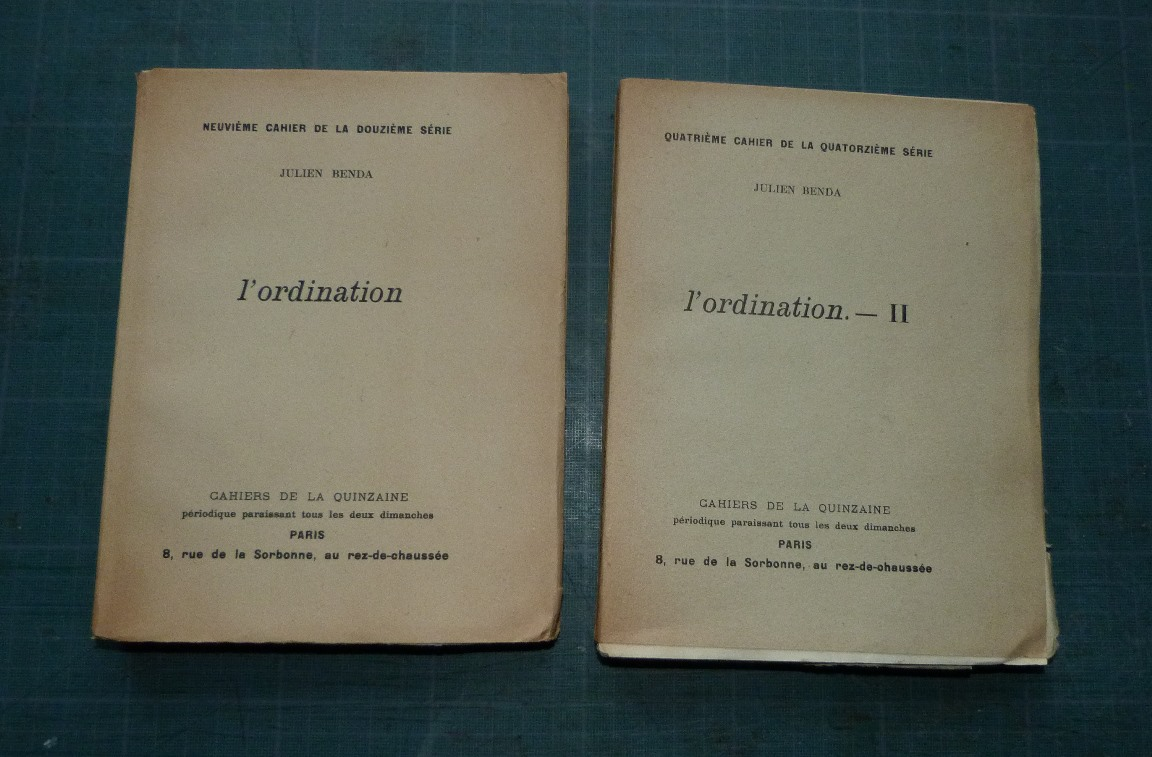 L'ordination, cahier de la quinzaine, unes de couverture