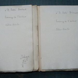 L'ordination, cahier de la quinzaine, dédicaces