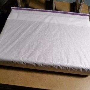 Fabrication d'un étui bordé : enveloppe du livre