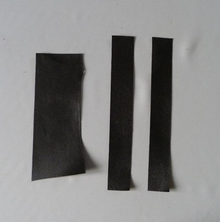 Fabrication d'un étui bordé : cuir pour bordures