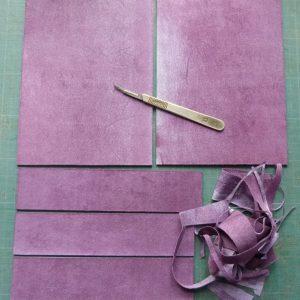 Fabrication d'un étui bordé : cartons doublés
