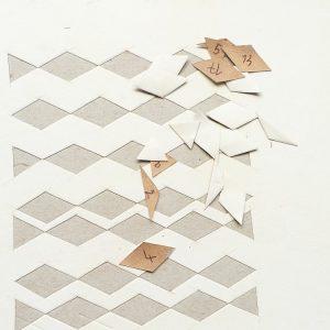 Carnet au pavage cratyléen(2) : découpe des motifs blancs
