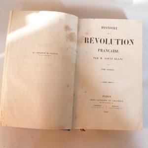 Histoire de la révolution française : titre