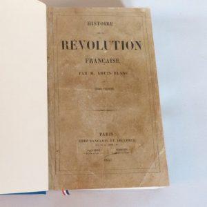 Histoire de la révolution française : une de couverture du tome 1.