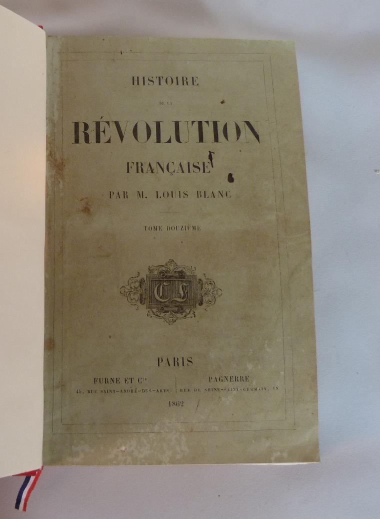 Histoire de la révolution française : une de couverture du tome 12.