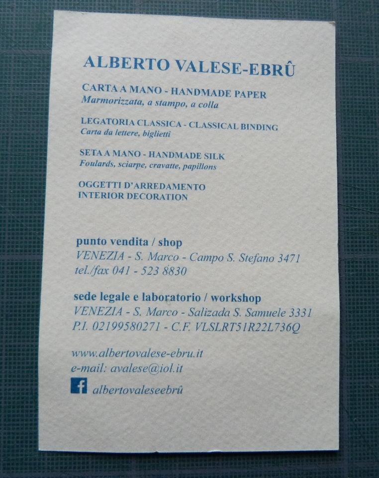 Alberto Valese : coordonnées