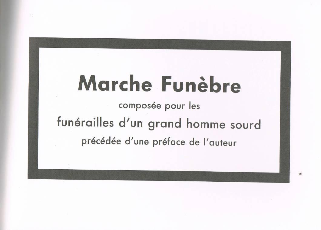 album primo-avrilesque : marche funèbre pour un grand homme sourd