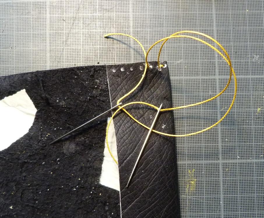 Swann : carnet de santé, couture sellier 2 aiguilles