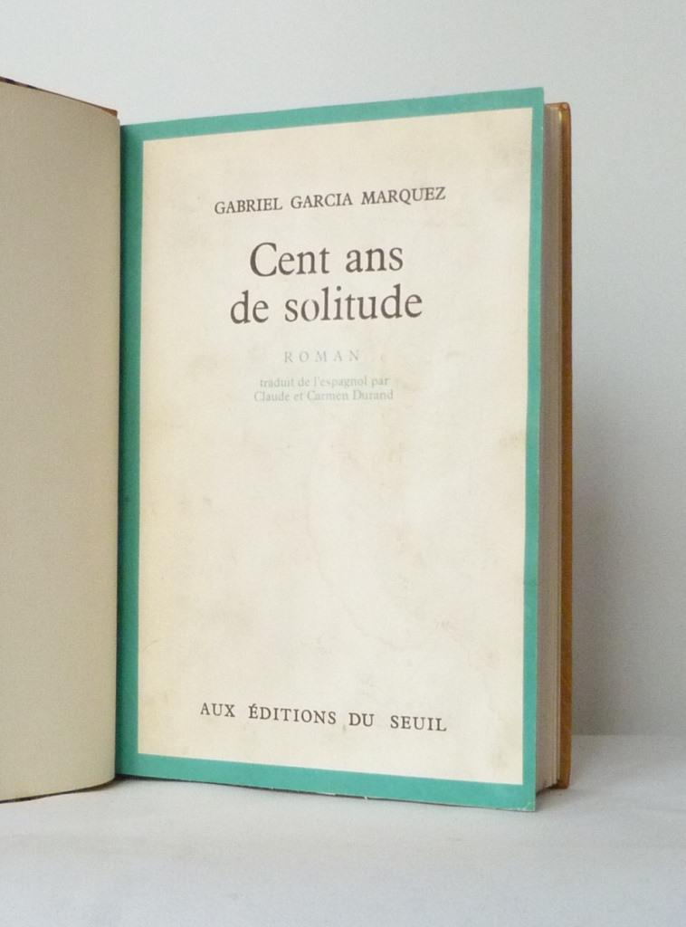 Cent ans de solitude : une de couverture
