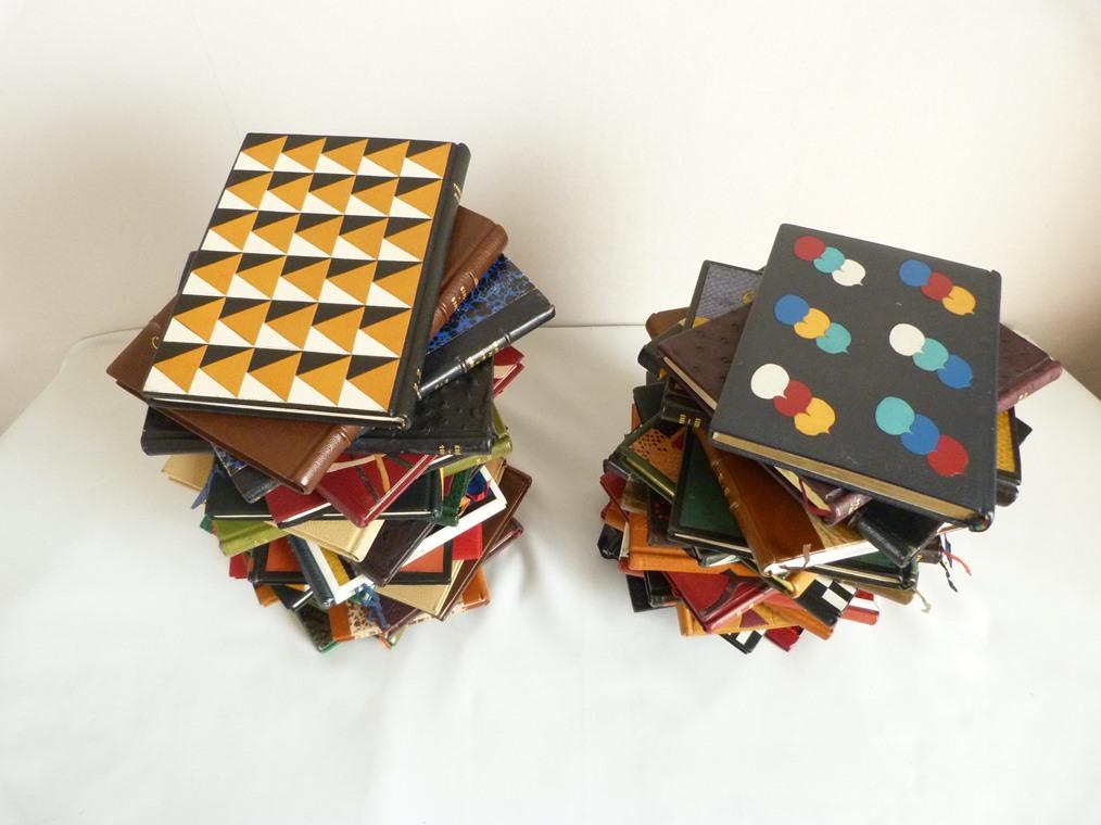 Carnets de notes : en colonnes vues du dessus
