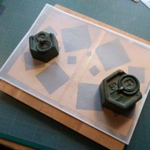 Carnets de notes (2007-2008), fabrication des calques
