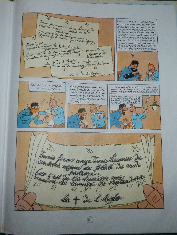 Carnets de notes (2007-2008), procédé Tintin