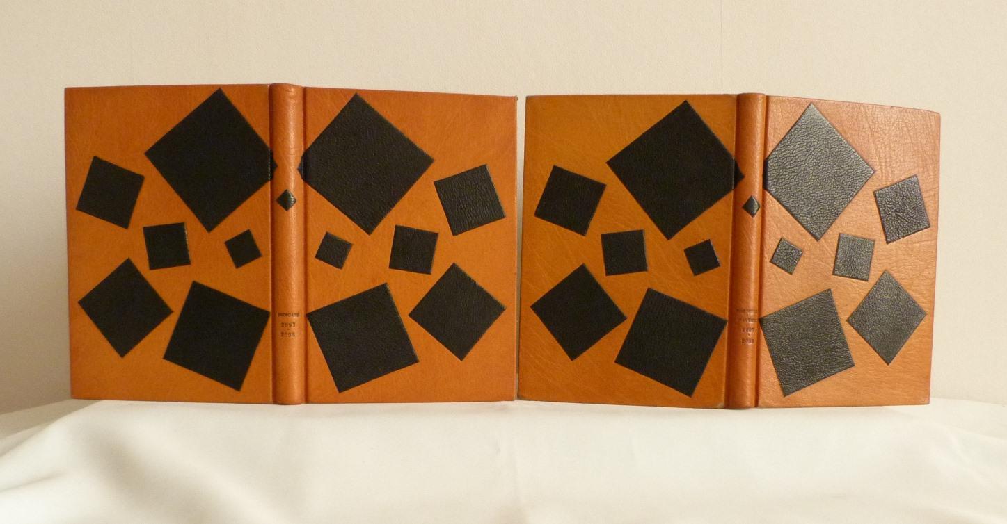 Carnets de notes (2007-2008), les 2 reliures côteà côte