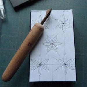 Le sacre du printemps : calque et fleuron