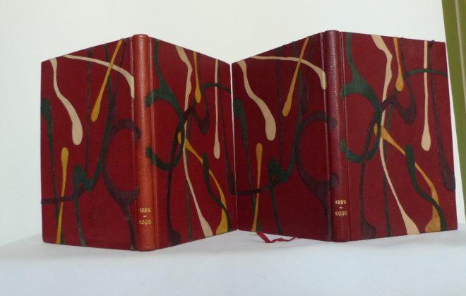 Carnets de notes (1999-2000), côte à côte.