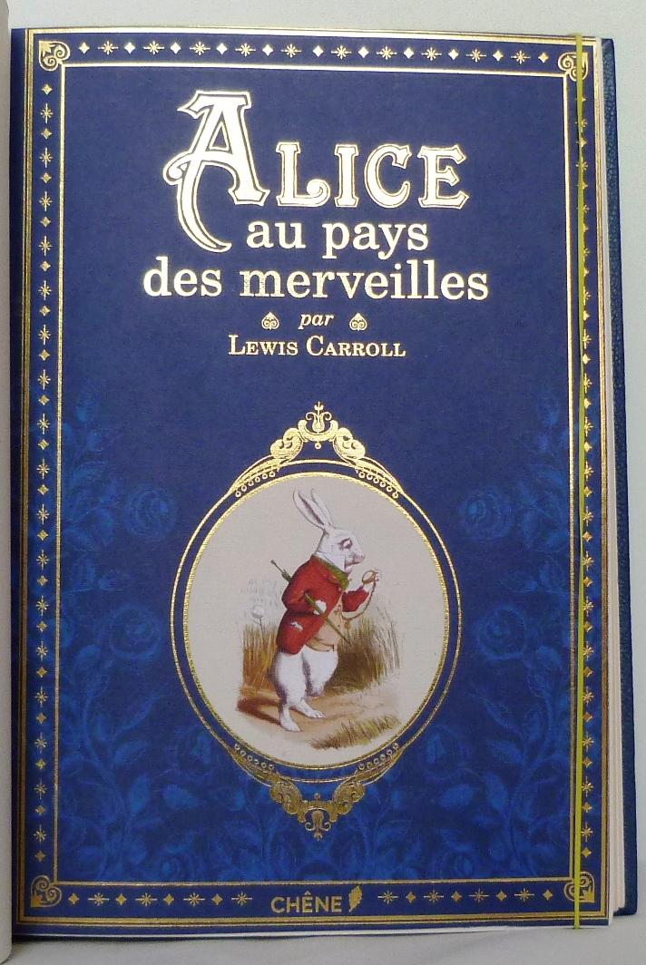 Alice au pays des merveilles, une de couverture.