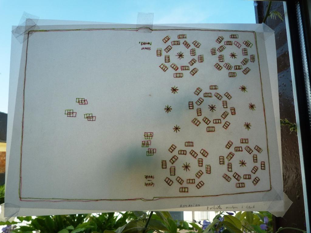 Carnets de notes (2006-2007), superposition des calques.