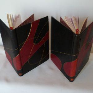 Carnets de notes (2001-2002), les 2 carnets vus de haut.