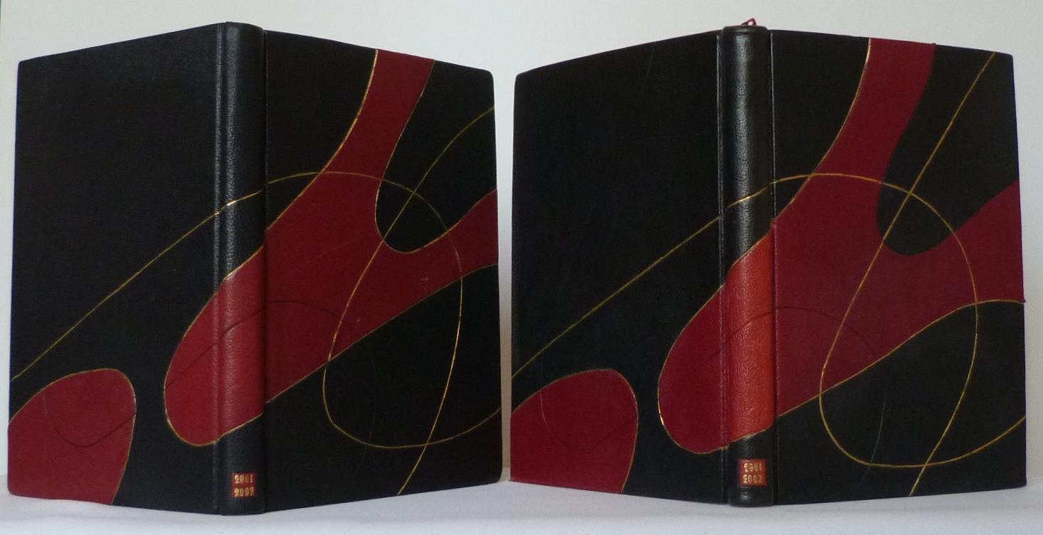 Carnets de notes (2001-2002), reliures des 2 carnets.