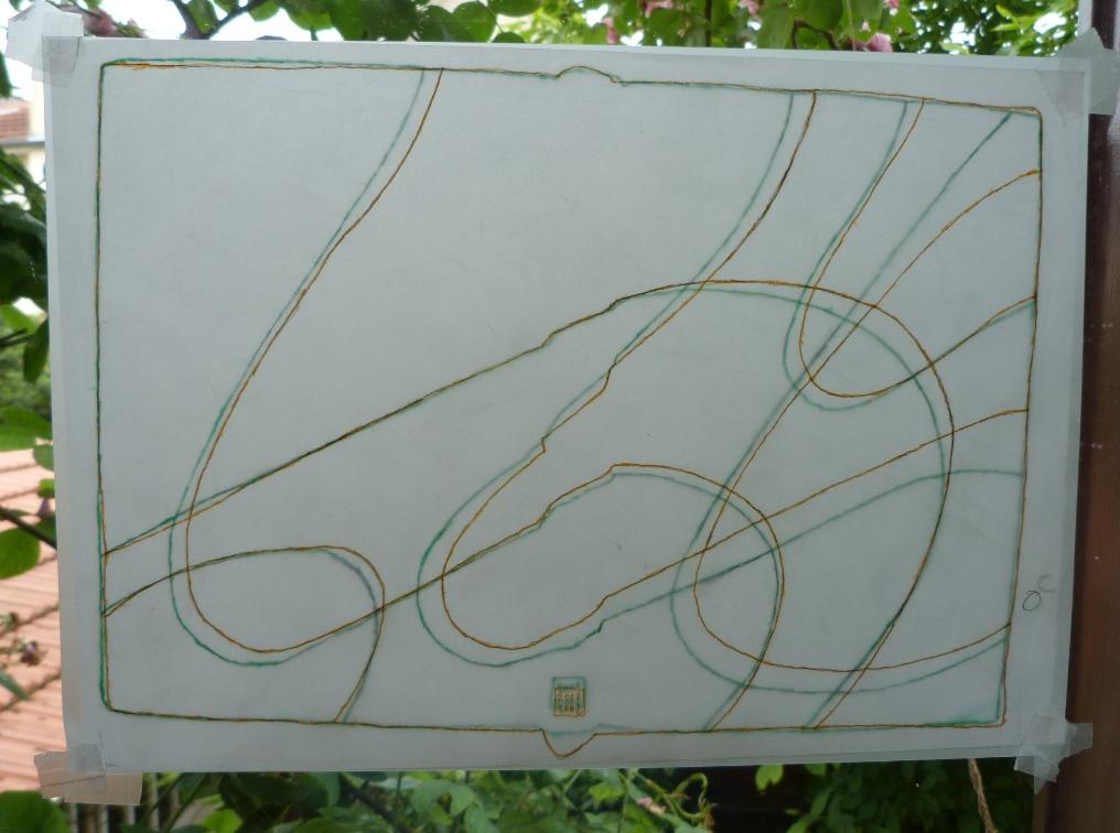 Carnets de notes (2001-2002), superposition des calques.