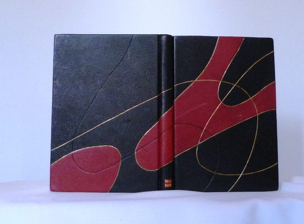 Carnets de notes (2001-2002), plats d'une reliure.