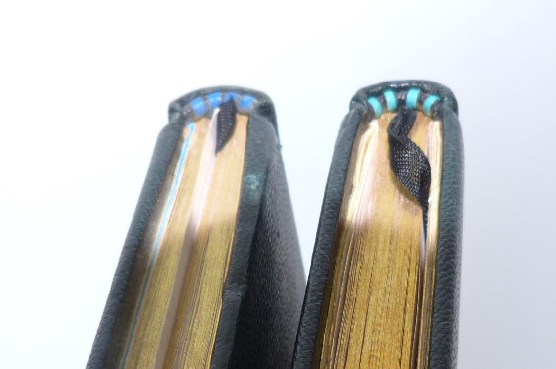 Carnets de notes (1996-1997), inspiration Ndébélé : tranchefiles cuir.