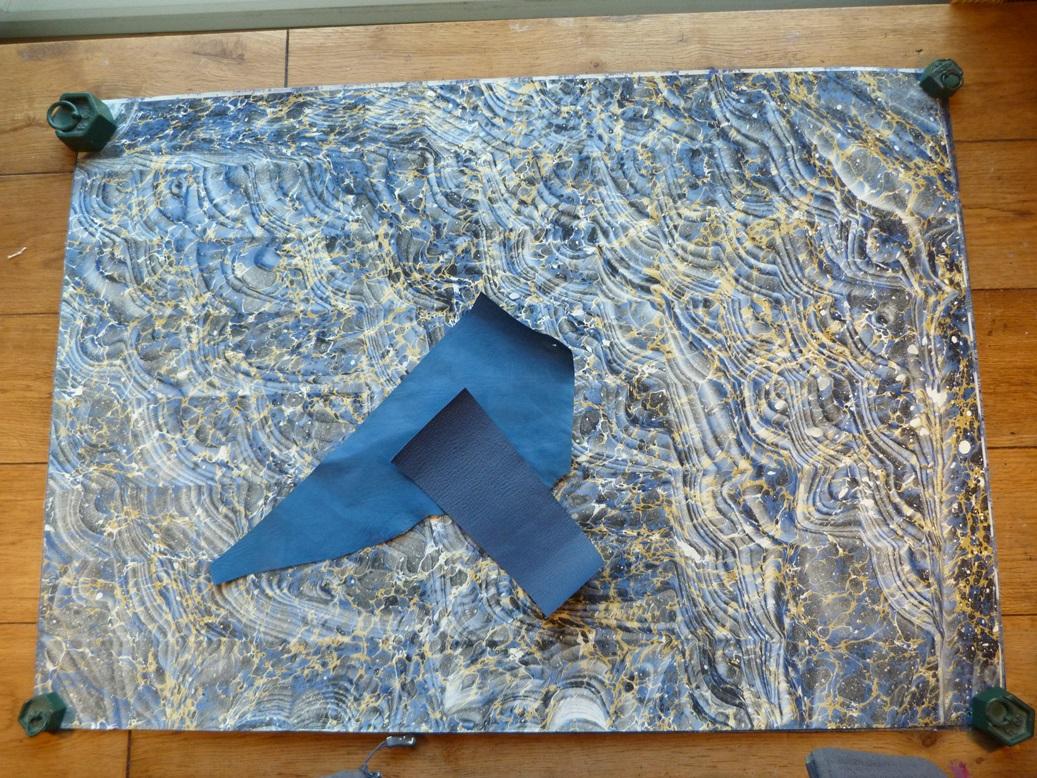 Biennale 2019-IX, papier marbré.