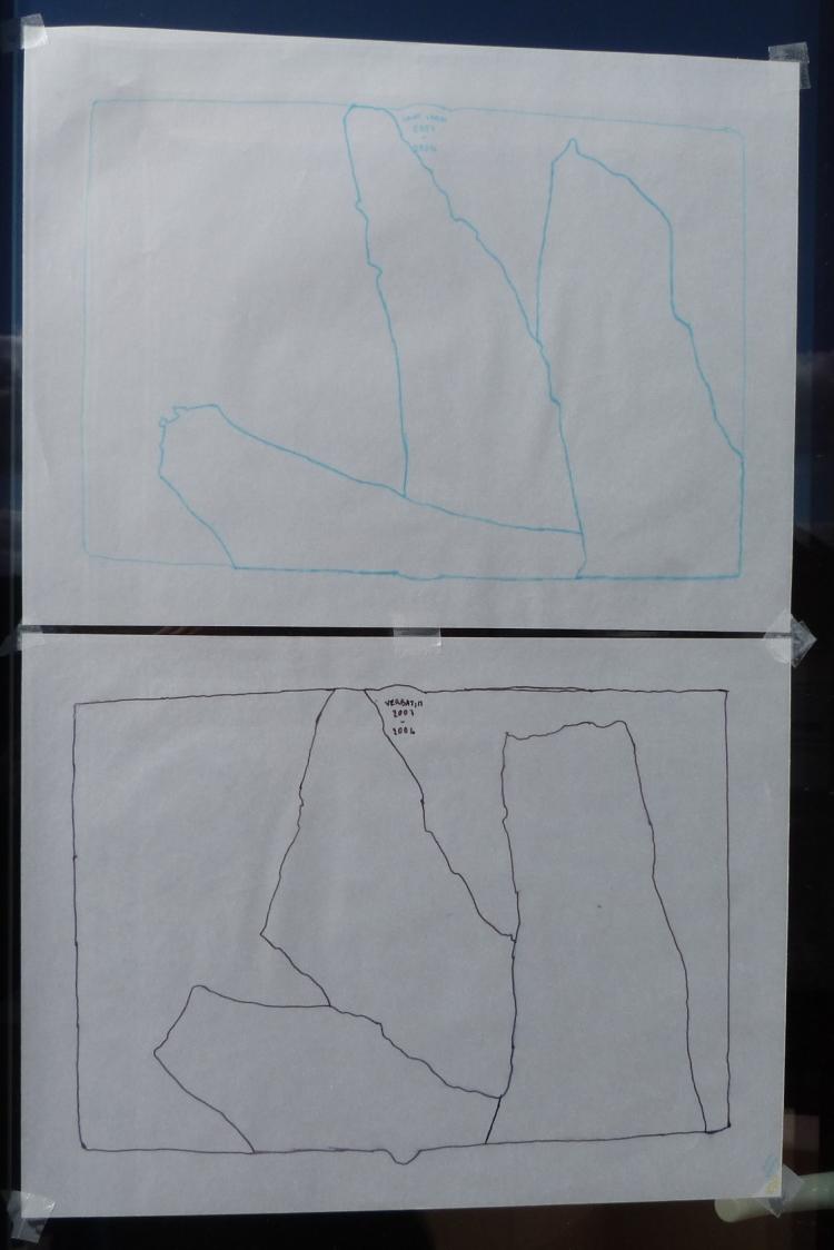 Carnets de notes (2003-2004), calques.