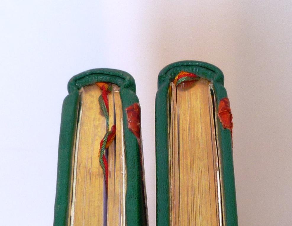 Carnets de notes (2003-2004), tranchefiles cuir.