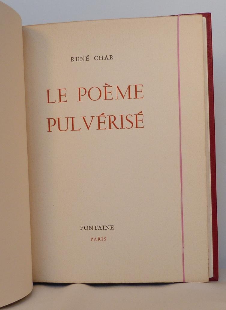 Le poème pulvérisé 2, une de couverture.