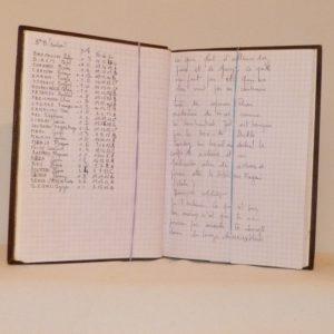 Carnets de notes (2002-2003) , notes