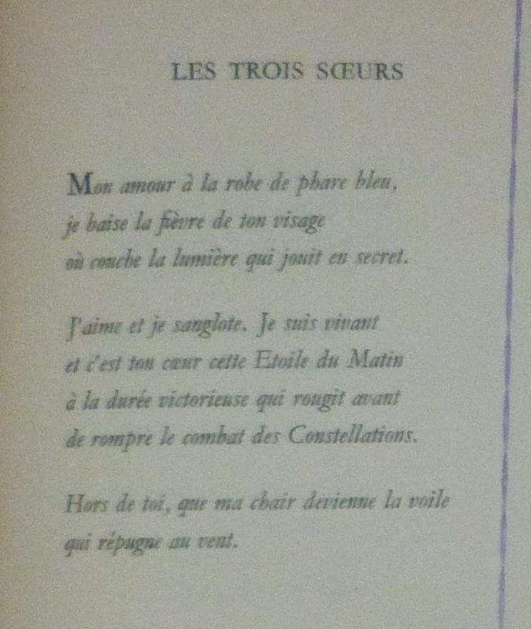 Le poème pulvérisé 3, comparaisson des caractères.