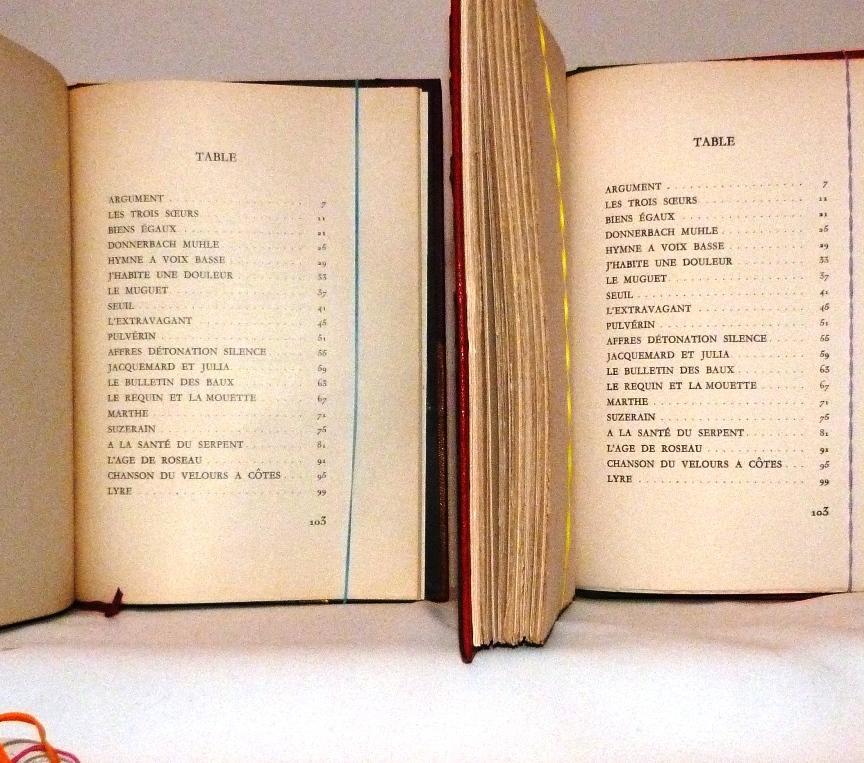 Le poème pulvérisé 3, table dess matières.