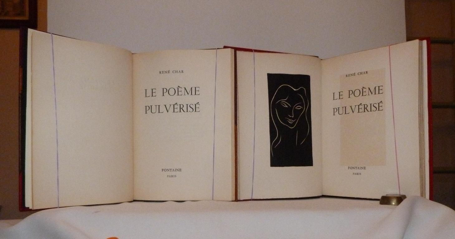 Le poème pulvérisé 3, linogravure de Matisse.