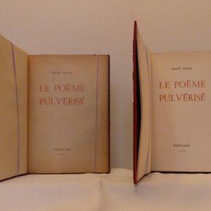 Le poème pulvérisé 3, une de couverture.