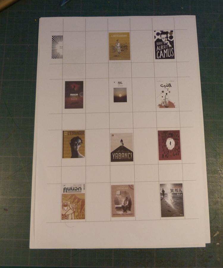 Biennale 2019-XII, test sur papier des photocopies.