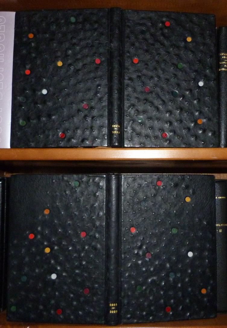 Carnets de notes (2004-2005), les reliures l'une sur l'autre.