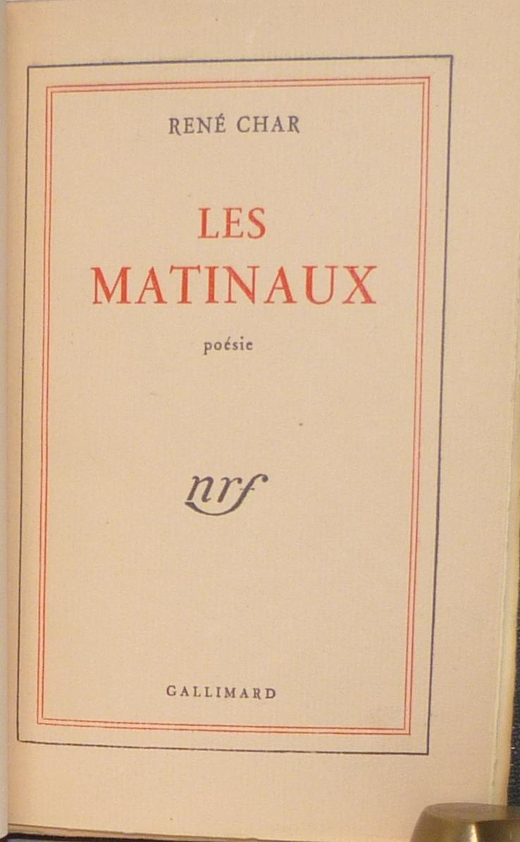 Les Matinaux 2, une de couverture.