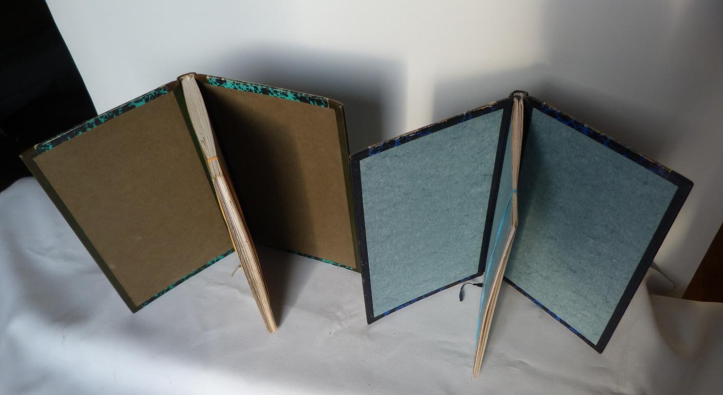 Carnets de notes (1989-1990), vus de 3/4 haut.