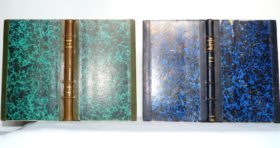 Carnets de notes (1989-1990), demi-cuirs à bandes.