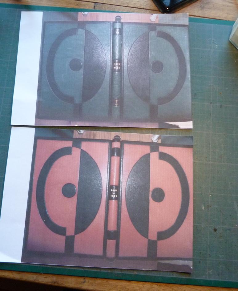 Carnets de notes (1998-1999), photocopies des reliuress.