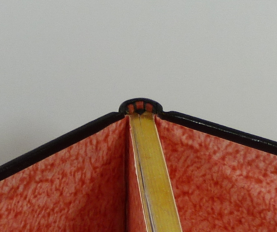 Carnets de notes (1998-1999), tranchefile rouge.