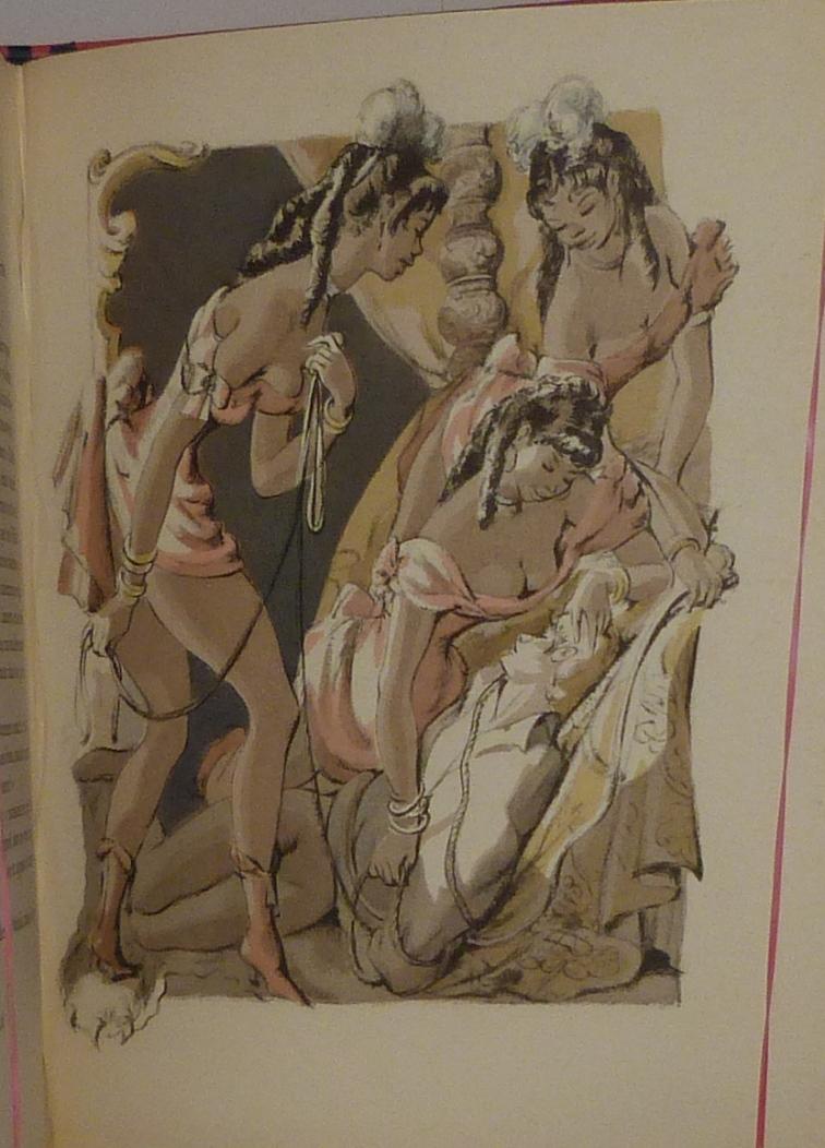 La vénus aux fourrures, illustration érotique.