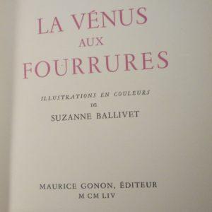 La vénus aux fourrures, titre.